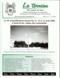 Le Terrien - Volume 16 No 1 - 2000