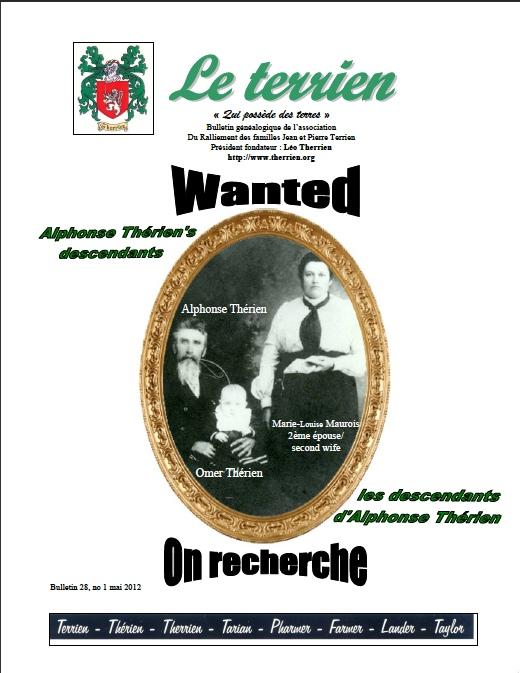 Bulletin Le Terrien Volume 28 Numéro 1 - 2012
