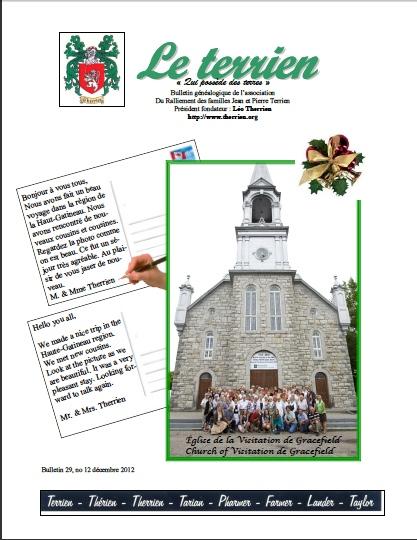 Bulletin Le Terrien Volume 29 Numéro 12 - 2012