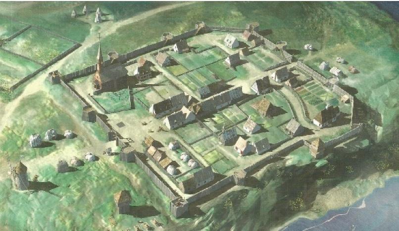Bourg de Trois-Rivières 1685