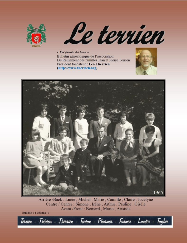 Bulletin Newsletter Le Terrien Volume 34 Numéro 1, 2017